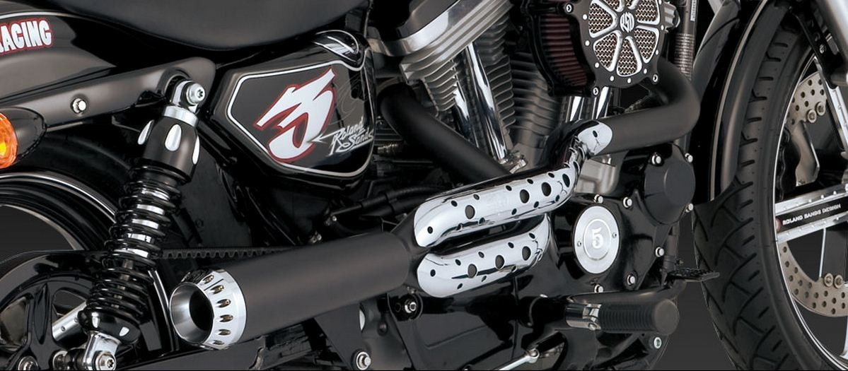 VANCE AND HINES - COMPETITION SERIES 2-INTO-1 FOR SOFTAIL