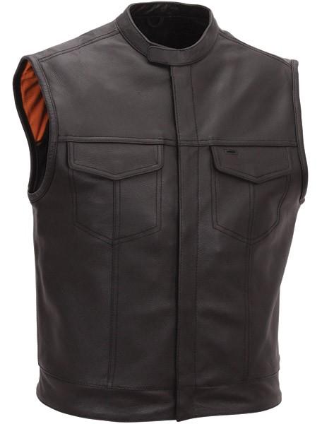 Men's Scooter Style Leather Vest FIM640CSL
