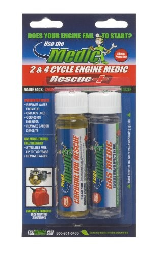 Fuel Medics 83556 2 Cycle And 4 Cycle Engine Medic Rescue For Gasoline Engines, Value Pack