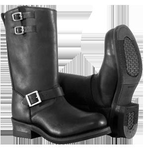 River Road Men's Twin Buckle Engineer Boots