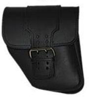 La Rosa - Straight Back Solo Side Bag for Dynas - Black