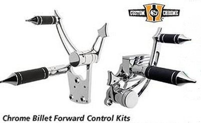 Custom Chrome - Chrome Billet Forward Control Kit
