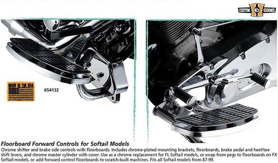 Floorboard Forward Controls for Softail Models