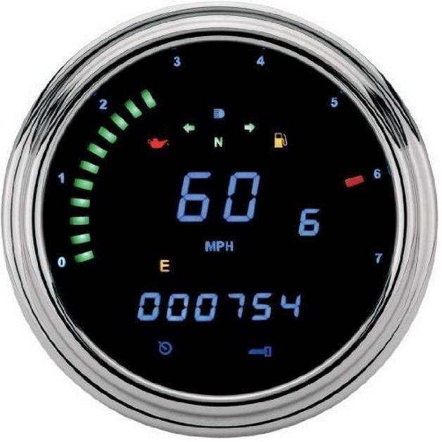 "DAKOTA DIGITAL Harley 2000 Series ""Fatbob"" Digital Information System Tachometer"