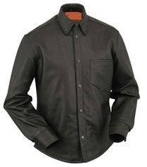 First Manufacturing Soft Milled Leather Shirt FIM415CSL