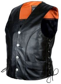 Mens Soft Milled Naked Cowhide Vest