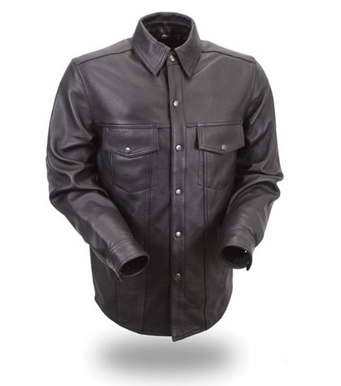 First Manufacturing Lambskin Snap-Down Shirt FIM403ES