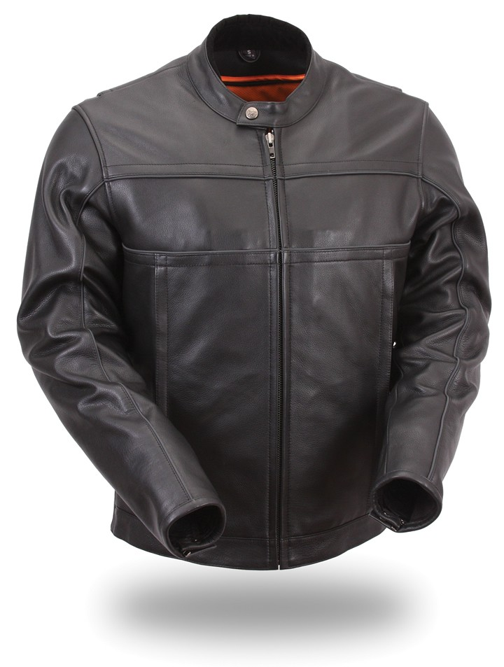 Mens' Updated Scooter Jacket with Reflective Piping FIM260NOCZ