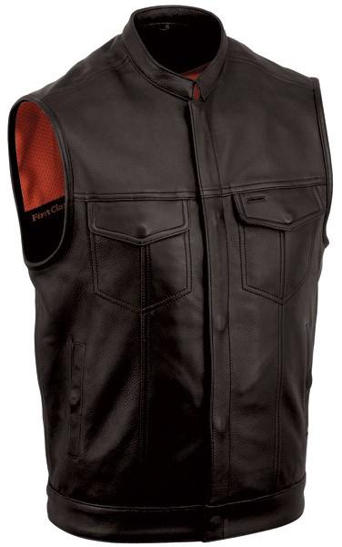 Men's One Panel Leather Concealment Vest FIM680NOC
