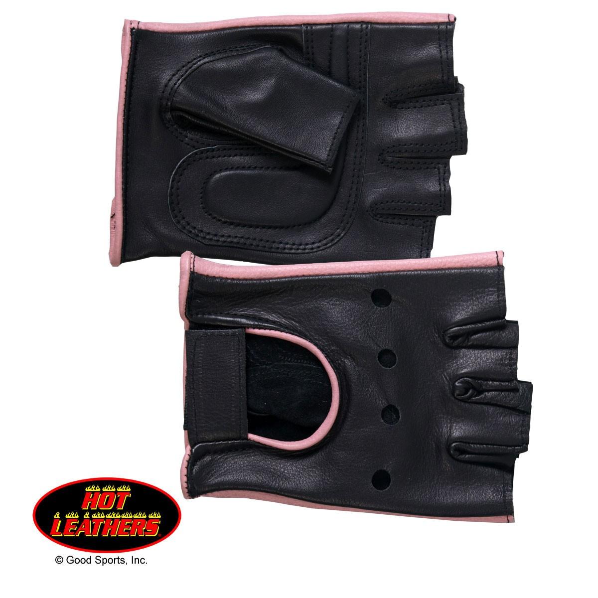 Hot Leathers Ladies Fingerless Gloves GVL1006