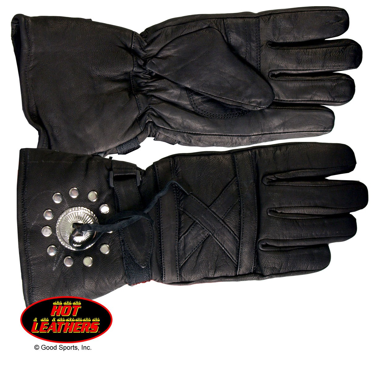 Hot Leathers Leather Gauntlet Glove