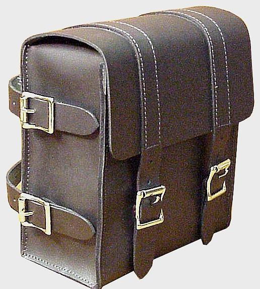SS10 Medium sissy bar bag with buckles