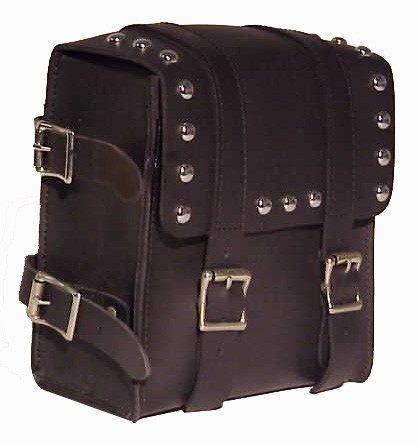 SS10S Medium Sissy bar bag with studs and buckles