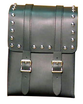 SS20S Medium Sissy Bar Bag with studs and buckles
