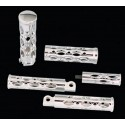 Arlen Ness - Ness-Tech Shifter Foot / Toe Pegs - Battistini Oval Hole - Chrome