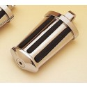 Custom Chrome - Oval Ribbed Footpeg