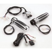 Comfort Heated Grips with Chrome Handlebar Controller