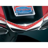 Chrome L.E.D. Rear Fender Tip with Red Lenses (ea)