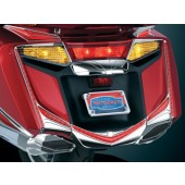 Chrome L.E.D. Vertical Rear Light Strips with Red Lenses (pr)