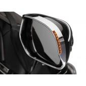 VISORED MIRROR TRIM With Amber LED's Turnsignal For Honda GL1800 Goldwing 2001-05