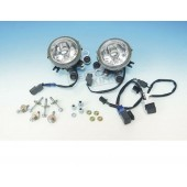 SHOW CHROME LOWER FOG LIGHT KIT With Clear Lens For GL1800 Goldwing 2006-10 Airbag Models, All 2012