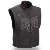 First Manufacturing Men's Raceway Skull Vest FRM655CIC