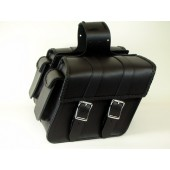 SB35BRP Slant saddlebag with braid, quick clips, and pouch
