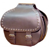 SB40S-MD Medium round saddlebags with studs