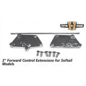 "Custom Chrome - 3"" forward control extensions for Softail Models"