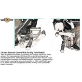 Chrome Forward Control Kit for Big Twin Models