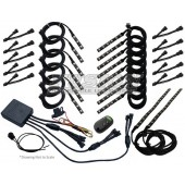 FREYMOTO - Motorcycle LED Lighting Kit Stage 4 Fusion Million Color Harley Davidson, Honda