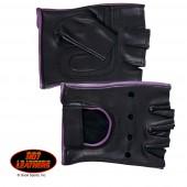 Hot Leathers Ladies Fingerless Gloves
