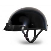D.O.T. DAYTONA SKULL CAP JR.- HI-GLOSS BLACK