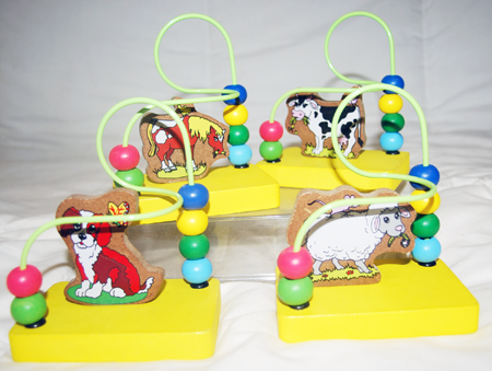 "COWBEAD - 5"" Cow Themed Wooden Bead Infant Game (12pcs @ $1.25/pc)"