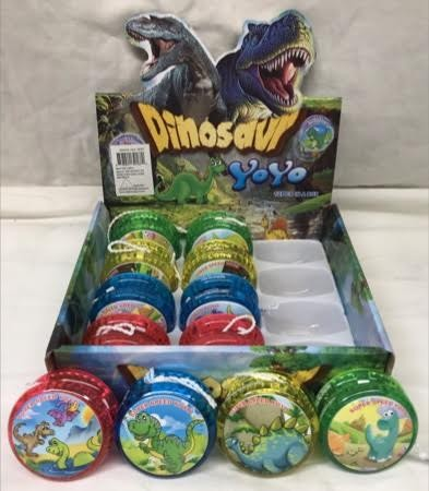 """CZDINYO4 - 2"""" Light Up Dinosaur YoYo's (12pcs @ $0.75/pc)"""
