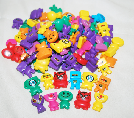 "Item# A1BLHEB - 1"" Colorful Blockheads Figures (100 pcs @ $0.20/pc)"