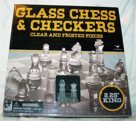 "BR321 - 9"" Glass Chess & Checkers Game (1 pc @ $10.50/pc)"