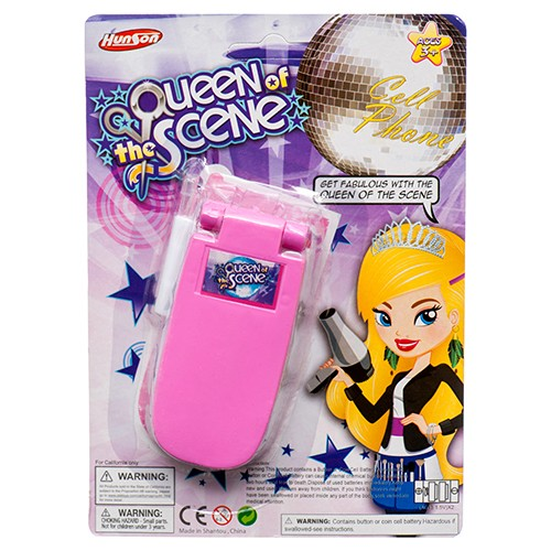 CJ188912 - TOY CELL PHONE W/ SOUND & LIGHT QUEEN SCENE (24pc @ $1.55/pc)