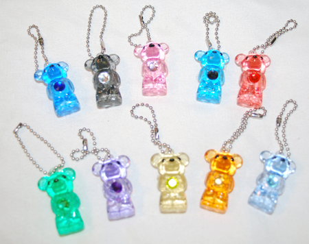 "Item# A1BISTB - 1.5"" Glitter Birthstone Teddy Bear Charms (100pcs @ $0.18/pc)"