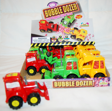 "CAND16 - 4"" Bubble Dozer Truck with Gum (12pcs @ $1.35/pc)"