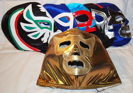 "LUCHA3 - Lucha Libre Handmade 13"" Adult Wrestling Masks (6pcs @ $9.95/pc)"
