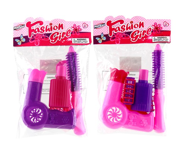 Item# KK22776 - 	5 PCS HAIR DRYER PLAY SET (24pks @ $1.25/pk)