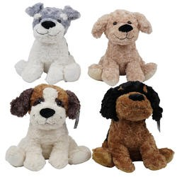 "Item# 26902 - 14"" Plush Sitting Dogs (18pcs @ $8.95/pc)"