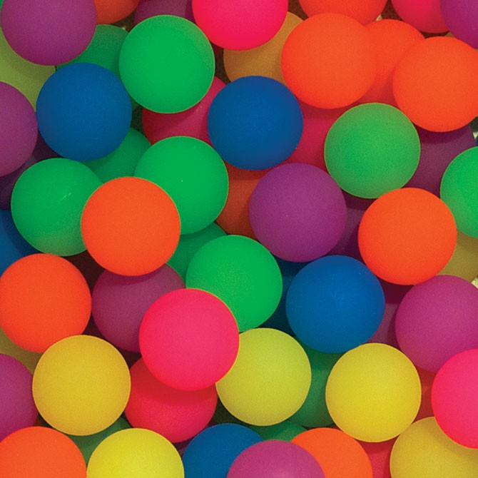 Item# A149FRB - 49mm Frosty Hi-Bounce Balls (40 pcs @ $0.50/pc)