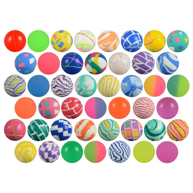 Item# A127MIB - 27mm Mixed Hi-Bounce Balls (250 pcs @ $0.09/pc)