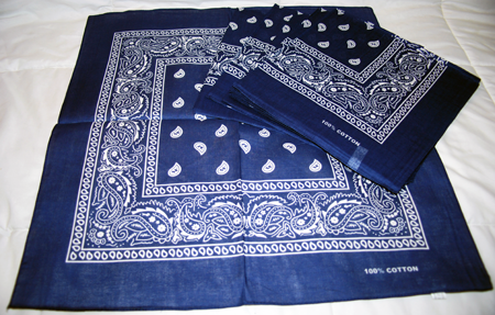 "CAND128 - 21"" Cotton Bandana (12 pcs @ $0.80/pc)"