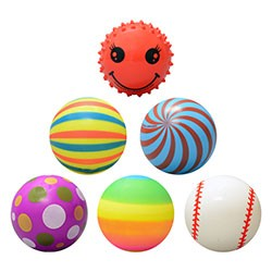 Item# A13BLMIX - 3'' Inflated Series 1 Assorted Vinyl Balls (144 pcs @ $0.50/pc)