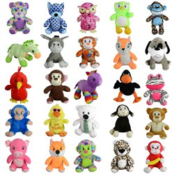 Item# A13GJUMMIX9 - Jumbo 100% Generic Mix 9 Plush Kit (50 pcs @ $2.69/pc)