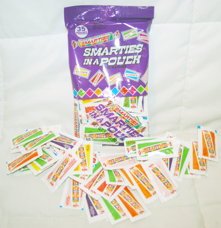 "BR45 - 2.5"" Smarties Candy in a Pouch (456 pcs @ $0.03/pc)"