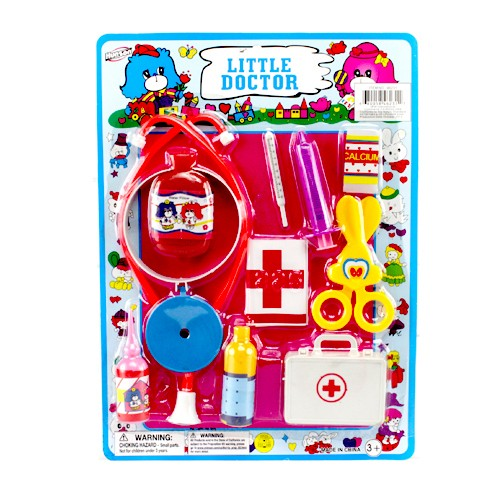 Item# KK46231-24 - 11 PIECE DOCTOR PLAY SET ( 24pks @ $1.60/pk)